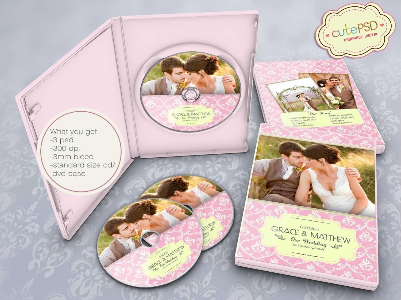 Plantilla de boda Dvd Photoshop plantillas CPZ016