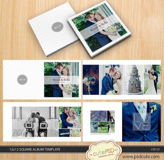 Vierkant Bruiloft Album Sjabloon 12 X 12 10 X 10 8 X 8 24 Etsy