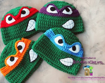 TMNT ninja turtle hat ready to be shipped.
