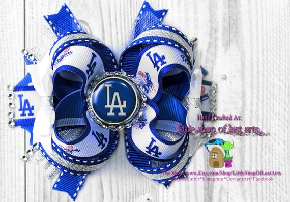 Inspired By La Dodgers Large Stacked Deluxe Boutique Bow Etsy