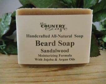 Beard Soap - Pick Your Scent - Moisturizing Formula – Made with Jojoba and Argan Oils - Organic – Vegan  - Organic