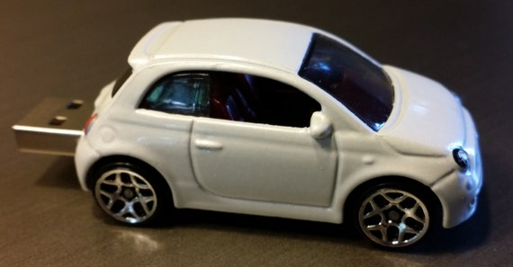 Fiat 500 Diecast Usb Flash Drive Several Colors Available Etsy