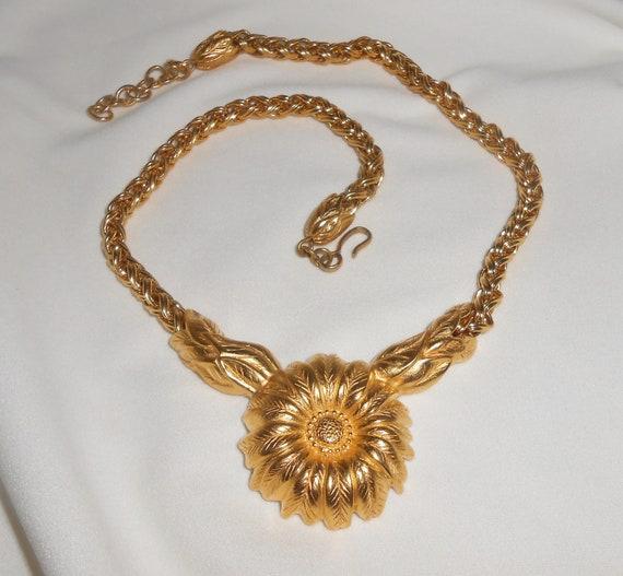 Monet Jewelry,  Monet Necklace,  Sunflower Necklac