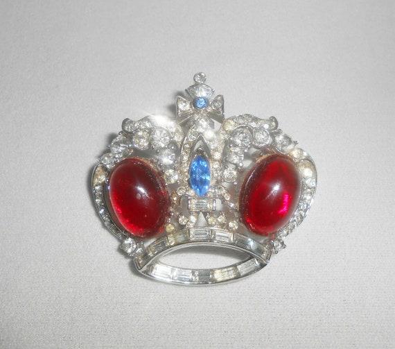 Coro Crown Pin,  Corocraft Brooch,  Crown Royal,