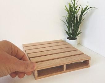 Dollhouse Miniature Double Size Pallet Bed