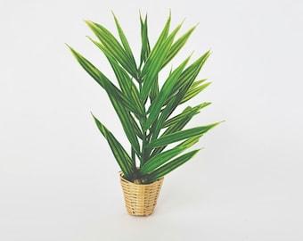 Dollhouse Miniature Palm in Basket