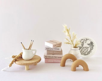 """Miniature Dollhouse """"Natural Home"""" Curated Collection"""