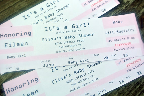 print your own ticket event concert invitation soft pink etsy