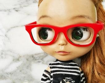 Red Nerd glasses-for blythe-Best Selling.