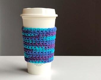 Crochet Coffee Cozy - Crochet Tea Cozy - Coffee Sleeves - Reusable Coffee Sleeve - Coffee Cup Sleeve - Boho Gifts - Crochet Coffee Cozy