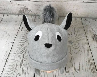 8ab1592718a Adult Size Squirrel Fleece Hat