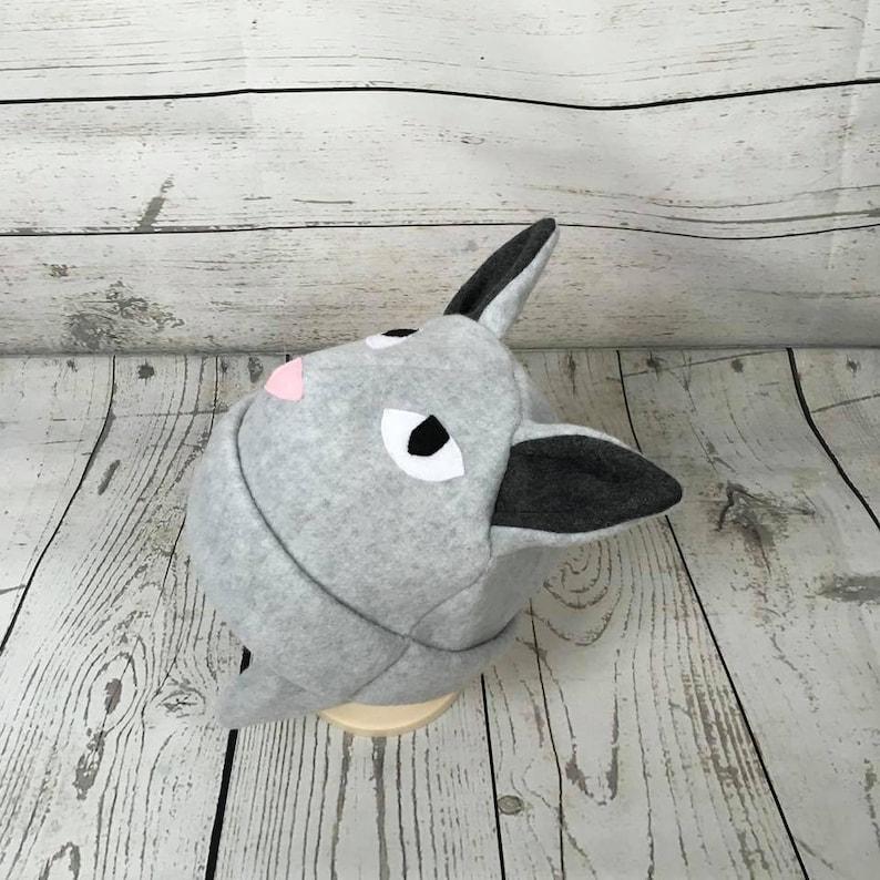 Toddler Cat Hat Animal Kids Hat Baby Gift Cat Kids Hat Kids Winter Hat Kitty Kids Hat Gray Cat Hat Gray Cat Fleece Hat