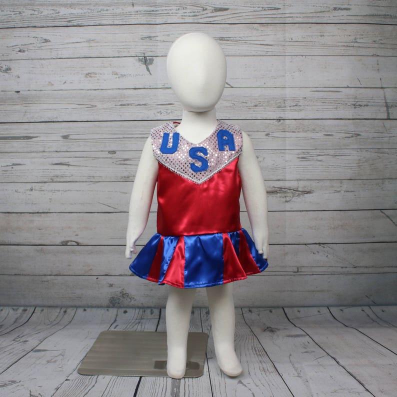 Patriotic Cheerleader Child Costume