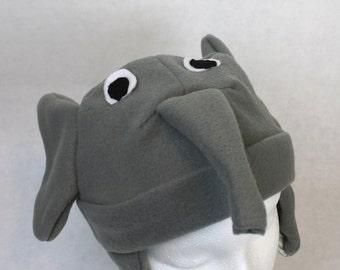 Adult Size Elephant Fleece Hat