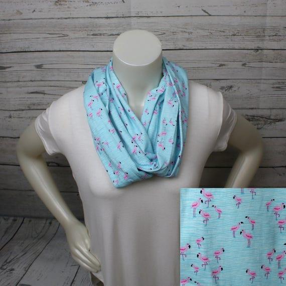 Aqua bleu foulard flamant flamant rose boucle foulard   Etsy cdd875c4776
