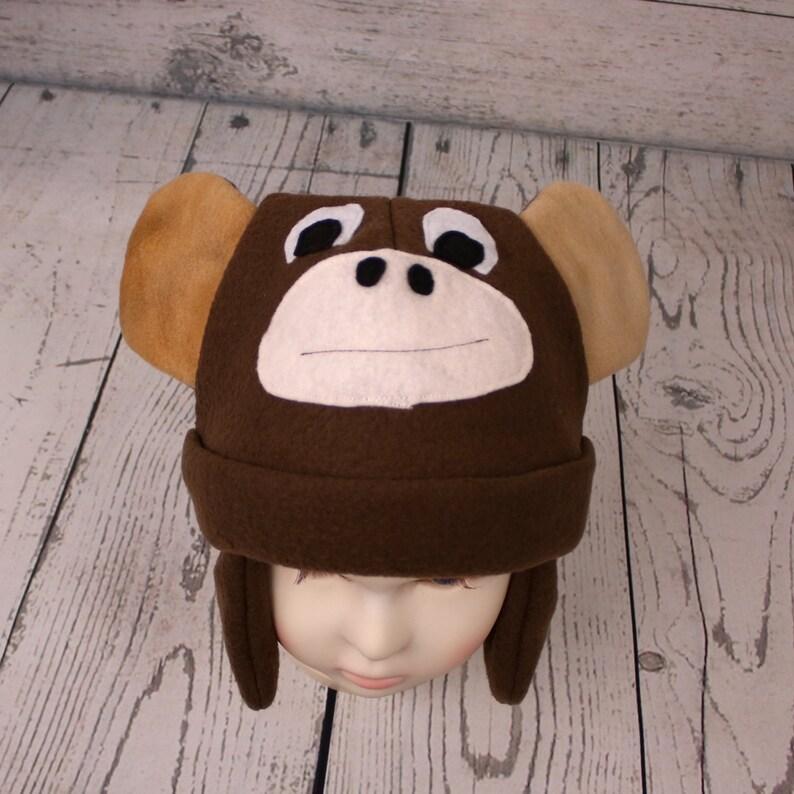 Nouveau Hiver garçons filles bambin chapeaux écharpe Ensemble Singe Chaud Bonnet Pour Enfants Kid