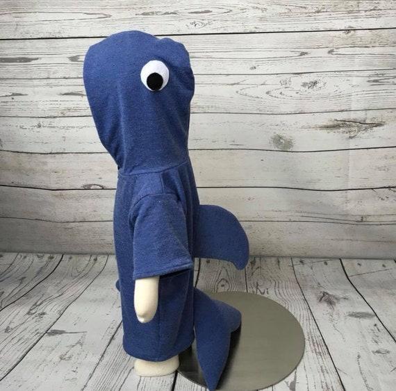 3M Beach Coverup Baby Beachwear 3-6M Blue Whale French Terry Coverup Baby Animal Coverup 6M Beach Coverup Blue Whale Zip Up Coverup