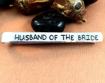 Husband of the Bride tie clip, Groom tie clip, Gift from wife, Gift for Groom, Christmas Gift