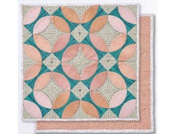 Trenton Block mini quilt pattern - hand pieced classic blocks with free BONUS technique guide - PDF pattern / instant download