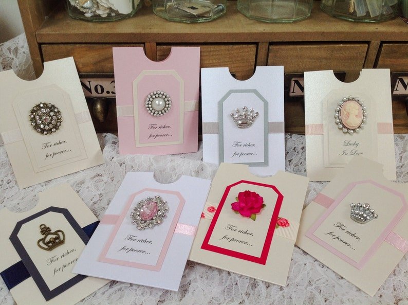 Lottery Ticket Scratchcard Holder Wedding Favour