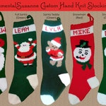 YOUR NAME on a Hand Knit 2019 Christmas Stocking