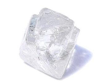 Natural Diamond Rough Diamond 2.92TCW 8.3 x 7.9 x 6.5 MM Rustic Diamond Gray Diamond Brown Diamond Raw Diamond Octahedron Diamond Uncut Diam