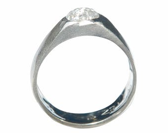 Men's Rough Diamond Engagement Ring - Fully Customizable with a wide band - The Malkah Ring