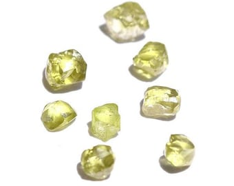 2.00 carat green rough diamond parcel