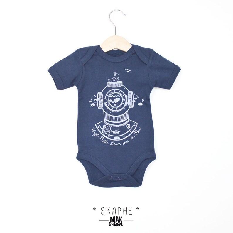 Body bébé SCAPHANDRE pour marin manches courtes mixte fille  c9ae085e863