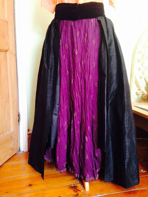 Shot silk Overskirt, Bustle Overskirt, Theatrical
