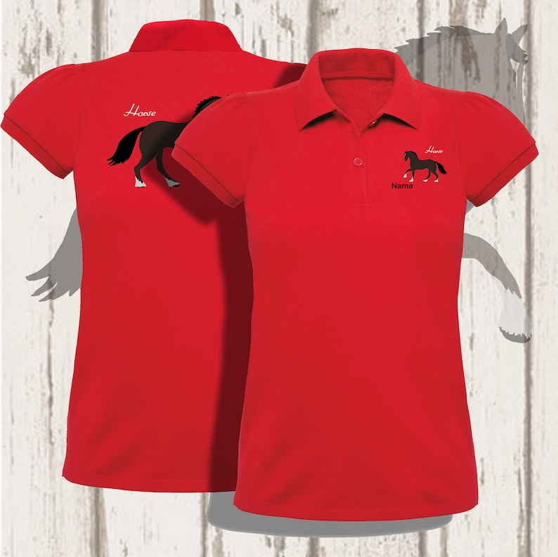 Horse personalised embroidered polo image 0