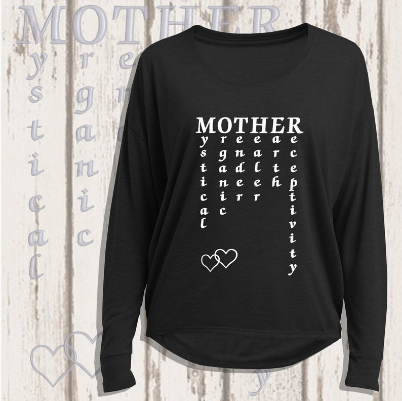 Mother Long sleeved loose t-shirt Black/ White