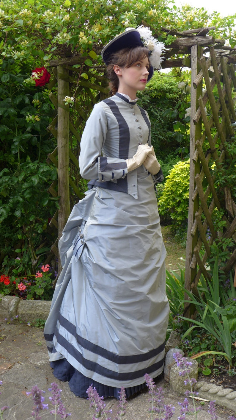 Victorian Clothing, Costumes & 1800s Fashion Victorian Walking Dress $601.44 AT vintagedancer.com
