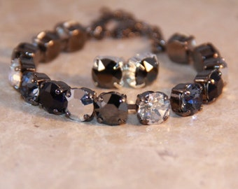 Swarovski Crystal Midnight 8.5mm Tennis Bracelet