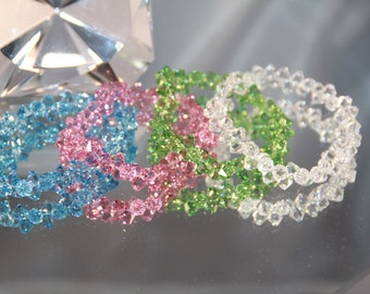 Swarovski Crystal Aquamarine Rock Candy Bracelet