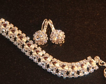 Swarovski Crystal Wedding Sterling Silver Tennis Bracelet