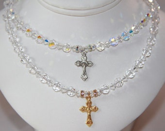First Holy Communion Swarovski Crystal Necklace