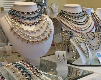 Swarovski Crystal Custom Design 8.5mm Necklace