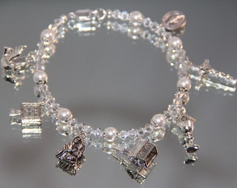 Confirmation Silver Charm Bracelet, with Swarovski