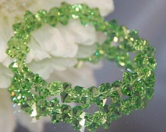 Swarovski Crystal Peridot Rock Candy Bracelet