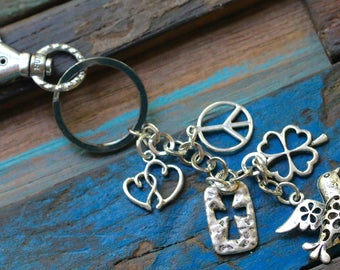 Elements of a Happy Life - Keychain and Purse Charm
