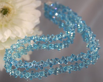 Swarovski Crystal Aquamarine Rock Candy Necklace