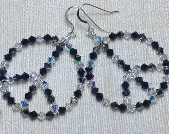 Swarovski Crystal Peace Smoky Earrings