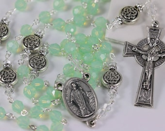 Swarovski Crystal Celtic St. Patrick Rosary