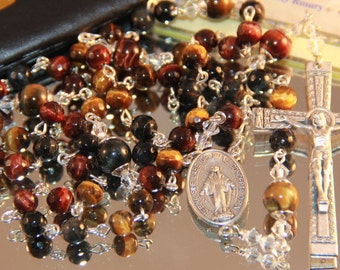 Catholic Tiger Eye Rosary