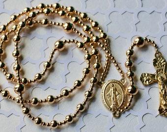 14k Gold Filled Catholic Rosary