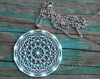Dodecahedron pendant - Stainless Steel