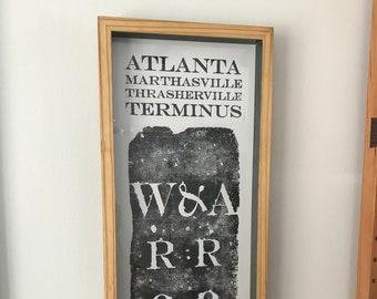 Atlanta Zero Mile Marker Print 6/29
