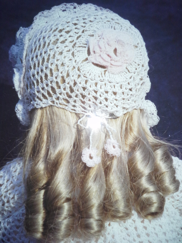 Pdf File Pattern 108 Doll Crochet Bonnet Amp Booties Fits 19