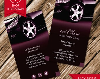 Auto business cards etsy auto body shop business card free shipping colourmoves